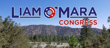 Liam O'Mara For Congress in CA42 logo