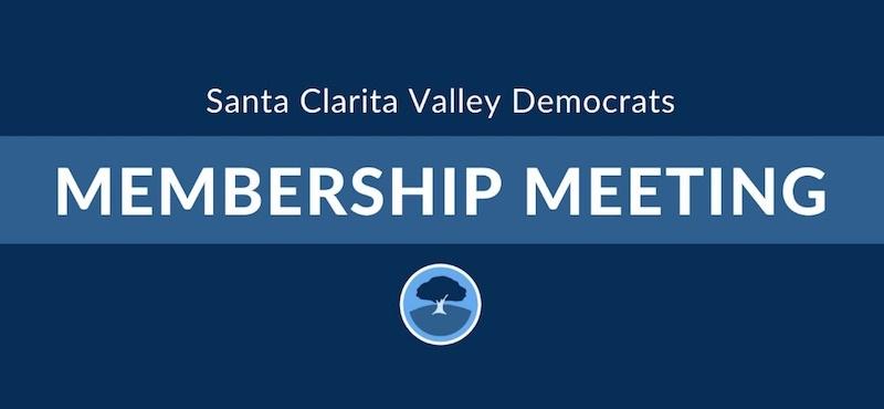 Santa Clarita Valley Democrats Membership Meeting logo