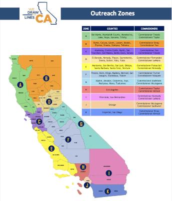 California Redistricting Commission logo